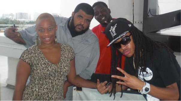 Me, DJ G Money of 97.7 FM, DJ Sco of Xclusive DJ's and artist Young Cartoon on my Krib TV show!